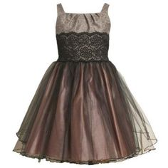 Size-4 BNJ-3472X MAUVE-PINK METALLIC TWEED and TULLE OVERLAY Special Occasion Flower Girl Holiday Party Dress,X63472 Bonnie Jean LITTLE GIRLS
