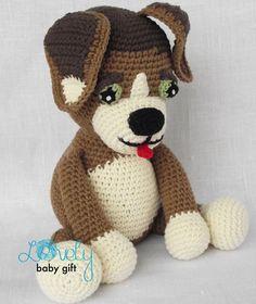 Patroon gehaakte Amigurumi hond Puppy gevulde door LovelyBabyGift
