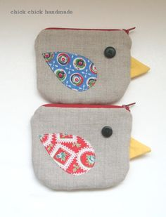 Hello my fellow crafty friends!   (From my handmade birdy pouches :)     These coin purses / mini zipper pouches  are made of my origin...