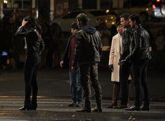 "Lana, Sean, Sean, Colin, Josh, & Ginny filming a scene for episode 5x01 ""The Dark Swan"" (July 17, 2015)"