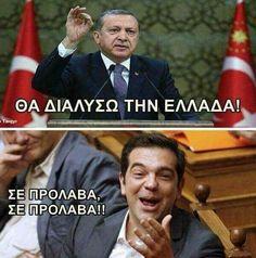 Ο Τσίπρας στην Άγκυρα με μυστική αντζέντα, την ίδια ώρα που ο Ερντογαν θέτει θέματα «τουρκικής» μειονότητας στη Θράκη, υφαλοκρηπίδας ελληνικών νησιών, χωρικών υδάτων και κυπριακής ΑΟΖ. Αλίμονο μας! Laugh Out Loud, Minions, Haha, Funny Quotes, Facts, Entertaining, Funny Things, Laughing, Greece