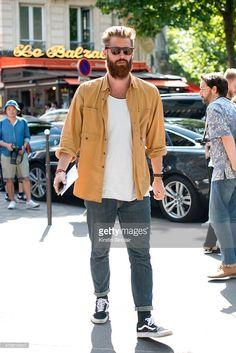 Harvey Nichols mens fashion buyer Reece Crisp on day 4 of Paris Fashion Week Menswear Spring/Summer 2016 on June 25, 2015 in Paris, France.
