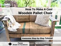 How To Make A Cool Wooden Pallet Chair