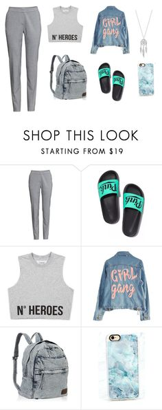 """Girl Gang"" by layaneleitth on Polyvore featuring moda, H&M, Victoria's Secret, High Heels Suicide, Casetify e Lucky Brand"