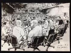 Conference in France - Kim Jung Gi Junggi Kim, Croquis Drawing, Manga Poses, Perspective Art, Ink Master, Kim Jung, Amazing Paintings, Detailed Drawings, Drawing Reference Poses
