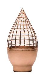 Conic Grid - handmade copper vase Designed by Jaime Hayon    I don't know how big this is,  but I can see fronds and tendrils growing out of this!