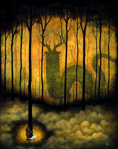 "Andy Kehoe Under the Gaze of the Glorious 24"" x 30"" 2011 Oil on Wood Panel ""Strange Wanderings"" Jonathan Levine Gallery"