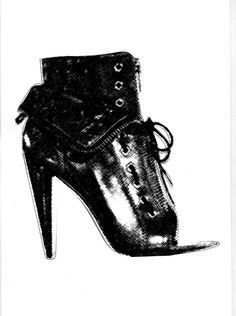 shoe boots illustration by DpK fashion design studio #shoes #boots #footwear #accessories #fashion