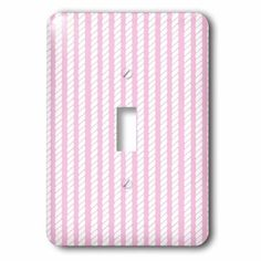 3dRose Pink and White Nautical Rope Design, 2 Plug Outlet Cover