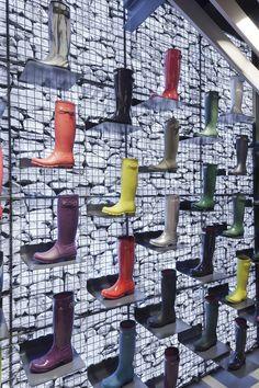 #designmk #design #Hunter #retailstore #interior #boots #UK #ChecklandKindleysides