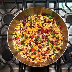 Three Bean and Orzo Salad Best dish so far for the Daniel fast. If we can find whole wheat orzo! Orzo Salad Recipes, Pasta Salad, Rice Salad, Bean Salad, Pasta Recipes, Paleo Snack, Daniel Fast Recipes, Clean Eating, Healthy Eating