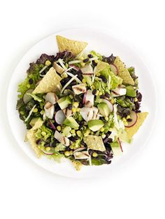 Grilled Tex Mex Salad with black beans, corn and avocado #summer #recipes