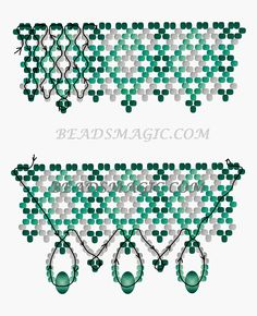 FREE Pattern for Beaded Necklace EMILY | Beads Magic#more-9581. Use: seed beads 11/0, rondelle crystal beads 6mm. Page 2 of 2