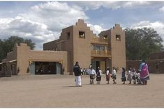 San Diego Tewa Mission (Roman Catholic church) at Tesuque Pueblo, New Mexico (Church Dedication 18-Sep-2004)  Photos are not allowed since that date.