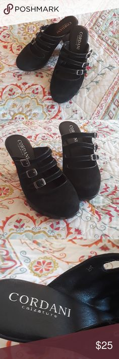 Cordani Black Suede Shoe Cordani Black Suede Shoes. Good condition. EUC size 36 which is a 6 US. Cordani Shoes Mules & Clogs