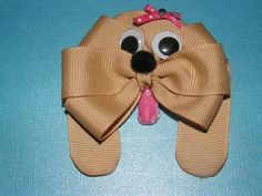 Puppy Hair Bow by ang744 on Etsy, $5.00