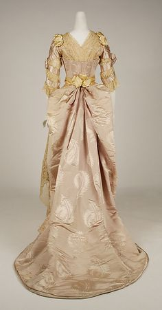 Evening dress (image 4) | House of Worth | French | 1887-89 | silk | Metropolitan Museum of Art | Accession Number: 49.3.24a–e