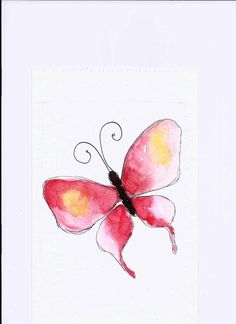 Watercolor Butterfly painting by Florinda