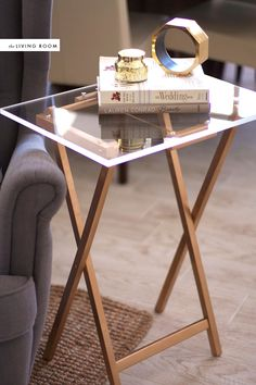 DIY lucite side table