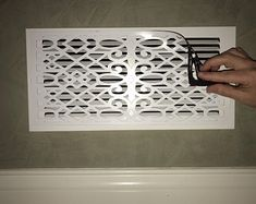 This ReVent Covers-Decorative Magnetic Wall Vent Covers is just one of the custom, handmade pieces you'll find in our wall décor shops. Home Improvement Projects, Home Projects, Home Renovation, Home Remodeling, Camper Renovation, Wall Vent Covers, Vent Covers Decorative, Floor Vent Covers, Br House