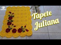 Tɑpete Juliɑnɑ #edilenefitipaldi - YouTube Crochet Videos, Crochet Designs, Crochet Earrings, Crochet Hats, Youtube, Crochet Doily Rug, Restroom Decoration, Crochet Throw Pattern, Table Toppers