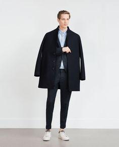 Image 1 de MANTEAU À LISERÉS de Zara Trench Homme, Manteaux, Trench Coat  Pour e9fee2e6f7d
