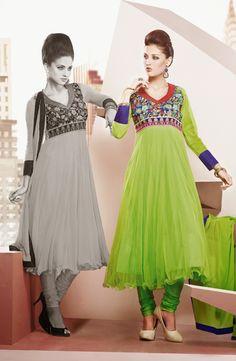 USD 138.47 Green Designer Net Party Wear Salwar Kameez   36022