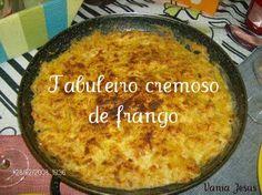 Receitas - Tabuleiro cremoso de frango - Petiscos.com
