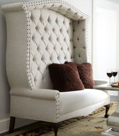 I'd sell a kidney for this tufted settee.