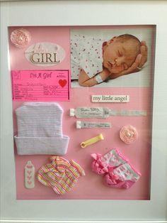 Shadow box ideas for a baby girl