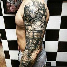 kol dövmeleri erkek warrior arm tattoos for men