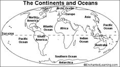 Primaryleap the seven continents worksheet english classes worksheets for all download and share worksheets free on blank world map continents oceans gumiabroncs Choice Image