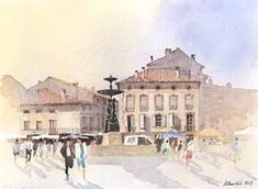 Allan Kirk artist and teacher Pen And Watercolor, Sketches, Urban, Illustration, Travel, Beautiful, Art, Drawings, Art Background