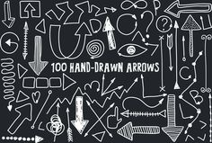 100 Hand-drawn Arrows