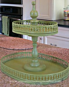 Creating a Vintage Looking Tiered Tray