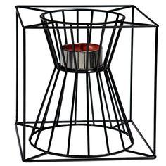 Boo fire basket, black, by Skargaarden.