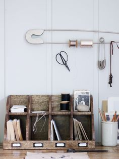 Wooden Letter Rack /and OMG that Pin Ribbon holder!!
