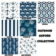 Outdoor Nautical Throw Pillows Cushion Covers By Fabricjunkie1640