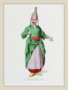 Chief confectioner. Turkish Sultan. Ottoman empire historical clothing
