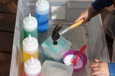 water activity for preschoolers, ice activity, science activity for kids