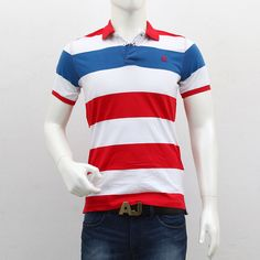 United Colors of Benetton – Red Blue White Striped Polo T-Shirt Polo T Shirts, Benetton, Red White Blue, Men's Collection, Outlets, Polo Ralph Lauren, Break Outs, Polo Shirts