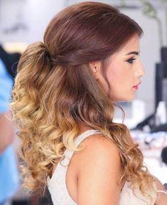 Wedding Hair Down Medium-To-Long Brown Blonde Ombre Hair - Best Ombre Hair, Brown Ombre Hair, Ombre Hair Color, Brown Blonde, Blonde Ombre, Blonde Hair, Half Up Wedding Hair, Wedding Hairstyles Half Up Half Down, Down Hairstyles