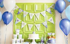 paper plate backdrop - love this idea