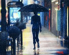 """Saatchi Online Artist Allison Rathan; Painting, """"Neon Hearts of the Lonely Rain"""" #art"""