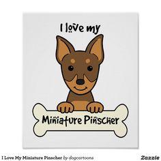 Eu amo meu Pinscher diminuto Poster