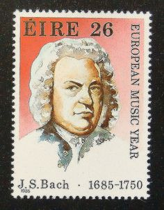 13987++Framed+Postage+Stamp+Art++J.S.+Bach+by+PassionGiftStampArt,+$13.90