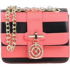 Versace Jeans Handbags (€265) ❤ liked on Polyvore featuring bags, handbags, pink, pink purse, pink handbags, red cross body handbags, crossbody handbag and versace purses