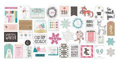 Crate Paper - Snow & Cocoa - Ephemera Die Cuts