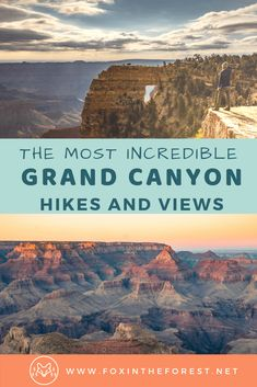7 Must-See Grand Canyon North Rim Hikes for Your Bucket List - - Get expert advice for the best Grand Canyon North Rim hikes. Tips and tricks for enjoying the Grand Canyon North Rim hiking trails without the crowds. Grand Canyon Hiking, Visiting The Grand Canyon, Grand Canyon Vacation, Grand Canyon Arizona, Travel Photographie, Arizona Travel, Us National Parks, Best Hikes, United States Travel