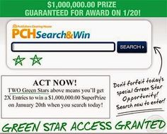 You could win a million dollar with pch sweepstakes